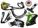 BodyCROSS Premium Schlingentrainer mit Umlenkrolle für zuhause| Sling Trainer Set mit Befestigung...