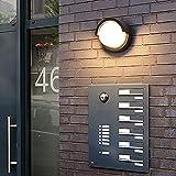 Außenwandleuchte 12W LED-Lampen Wasserdicht Indoor Modern Low Profile Leuchten 3000K Warmweiß...