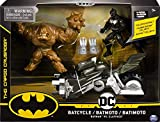 DC Comics Batman Bat-Fahzeug-Spielset mit 10cm-Actionfiguren von Batman und Bösewicht,...