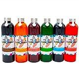Sirup Partyset 6 x 250ml für Slush, Getränke | Slushy Eis selber machen | Slushmaschine Konzentrat...