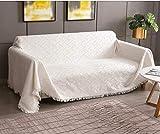 Rose Home Fashion Mehrzweck Sofabezug Sofaüberwurf aus Baumwolle 300 x 180cm, Couch Überzug,...