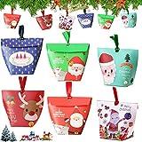 Sunshine smile 24 Weihnachtstüten,Papiertüten,Geschenkbox,papiertüten Weihnachten,Süßigkeiten...