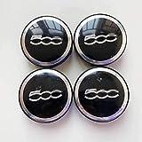 ZHNGG 4 Stück Radnabenabdeckung für FIAT 500,Radkappe Stickers in der Mitte Radnabenkappe,Auto...