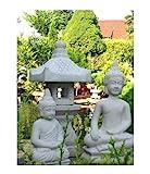 2 x BUDDHA + YUKIMI. K japanische Steinlaterne