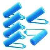 Luckkyme 72 Stück Schaumstoff-Lockenwickler, flexible Lockenwickler, weicher Schwamm,...