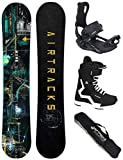 Airtracks Snowboard Set - Wide Board Data 160 - Softbindung Master - Softboots Savage Black 45 - SB...
