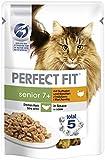 Perfect Fit Katzenfutter Nassfutter Senior 7+ mit Truthahn und Karotten in Sauce, 12 Portionsbeutel...