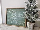 Generic Holzschild Merry Christmas ya Filthy Animal Farmhouse Christmas Sign Vintage Christmas...