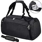 NEWHEY Sporttasche Männer Reisetasche mit Schuhfach Gym Fitness Tasche mit Rucksack-Funktion 40...
