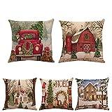 Dragon 868 Weihnachtsmann Kissenbezug Kissenbezug Square Car Home Decor Pillowcase Leinen...