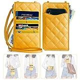 nuoku Damen kleine Geldbörse Crossbody Geldbörse Handy Slim Hals Tasche mit RFID für Clutch (max....