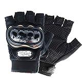MUYDZ Offene Finger-Handschuhe, Fingerknöchel, Motorrad, Powersports, Rennsport,...