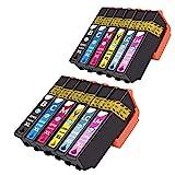 NTT 12 XL Druckerpatronen als Ersatz für Epson 24XL kompatibel mit Epson 24 XL für Expression...