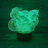 Wangzj 3d nachtlicht motorrad tischlampe led multi farbe taschenlampe wohnkultur...