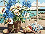 bdbdff Malen Nach Zahlen Kits Digitales Ölgemälde Blumenschale,Ölgemälde Geschenk Für...