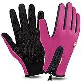 Zenoplige Touchscreen Handschuhe,Fahrradhandschuhe Laufhandschuhe Herren Sporthandschuhe Winddicht...
