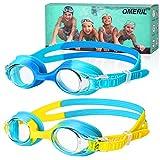 Schwimmbrille Kinder [2 Stcke] OMERIL Schwimmbrille fr Kinder, Antibeschlag Lecksicher Wasserdicht...