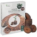 Kokos Quelltabletten mit Nährstoffen – 36 Stück, Kokoserde gepresst zur Pflanzen Anzucht ohne...