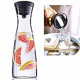 SCHOBERG Glaskaraffe Wasserkaraffe 1,2 Liter Karaffe Saftkrug Krug mit Ausgiesser Sieb Küche