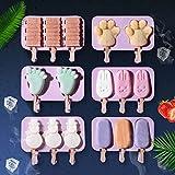 Silikon-Kombination Ice Cream Mold Ice Tray Popsicle Mold Christmas Decoration DIY Ice Cream Maker...