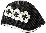 Fashy Damen Badehaube Luftgefüllte Gummi, schwarz, 3119