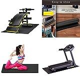 funnyfeng Trainingsgeräte-Matte, Schwarze Stabilitäts-Fitnessmatte, multifunktional Abriebfest,...