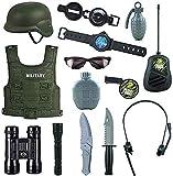 Mopoq Kampf Force 14 Stck Spielzeug for Kinder, Detektivausrstung for Kinder und Kinder Kostme, mit...
