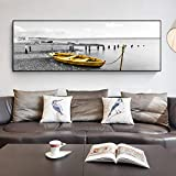 N / A Schwarzgold Boot natrliche Holzbrcke Landschaftsmalerei Poster und Kunstdrucke Wohnzimmer...