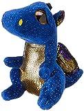 TY 36879 Blue Dragon Saffire, Drache dunkelblau 15cm, mit Glitzeraugen, Glubschi's, Beanie Boo's, 15...