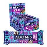 Adonis Keto Protein Riegel | Haselnuss Crunch & Schokolade Snack Riegel | 100% Natürliche Nuss...