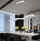 LED Pendelleuchte Dimmbar Moderne Kronleuchter Deckenleuchten Welle LED hängende Leuchte...