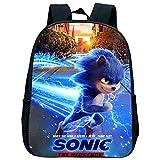 XINKANG Sonic Rucksäcke 12 Zoll Sonic Kindergarten Schulrucksack Kind Baby Kleinkind Tasche Kinder...