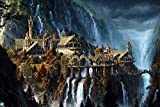 DIOPCCE The Elf Castle Plane 1000 Stck Puzzle Holzpuzzle Gre Fantasy-Landschaft fr Erwachsene...