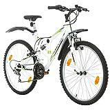 Probike EXTREME 26 Zoll Fahrrad Mountainbike Vollfederung Shimano 18 Gang Herren-Fahrrad,...