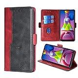 FiiMoo Handyhülle Kompatibel mit Motorola Samsung Galaxy M51, [Weicher TPU] [Kartenfach]...
