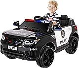 Bamny 12V Kinder Elektroauto Polizeiauto, 2 x 30W Motor Kinderauto Kinderfahrzeug Elektro Polizei,...