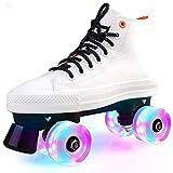 Azly Erwachsene Rollschuhe, doppelreizende Skate-Schuhe, Vier-Rad-Leuchte Skating-Schuhe, für...