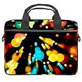 GLEND-Motion, farbige Bokeh Laptop-Tasche, Umhängetasche, Laptop-Tasche für Damen und Herren bis...