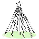 LED-Weihnachtsbaum 200 cm mit Stern beleuchtet mit 660 Micro-LED warmweiß für den Garten außen