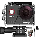 LeadEdge A20 Action Cam 4K/30FPS 1080P/60FPS 20MP Unterwasserkamera Externes Mikrofon WiFi EIS...
