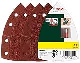 Bosch 25tlg. Schleifblatt Set (verschiedene Materialien, Körnung 40/80/120/180, 11 Löcher,...