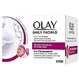 Olay Daily Facials Mizellen-Reinigung Für Normale Haut, 5-in-1 Mit Wasser Aktivierbare, Trockene...