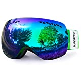 Supertrip Skibrille Damen Herren Snowboardbrille Schneebrille Verspiegelt Ski-Schutzbrillen...