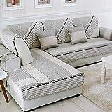 Hybad hussen Sofa,Sofa Cover,Sofaschoner,Schonbezug,Cotton Thick Printed Corner Sofa Slipcover,...