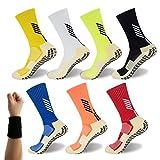 Dee Plus Rutschfeste Fußball Socken Basketballsocken/Yoga Socken Noppen Sohle Damen & Herren Socken...
