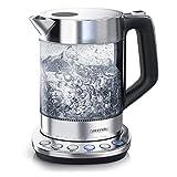 Arendo - Glas Wasserkocher mit Temperatureinstellung - Warmhaltefunktion 30min - 1,5 Liter...