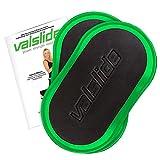 Valslide - Gleitscheiben perfekt für Bauchmuskeltraining Slide Pads für jeden Untergrund (Grün)