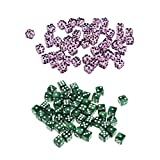 Hellery 100 Stück / Set Polyedrische Würfelspiele (D6) für Dungeons / Dragons / MTG / RPG /