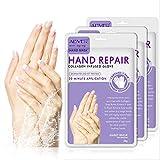3 Paar Hnde Feuchtigkeitsspendende Handschuhe, Hand Skin Repair Renew Mask mit Eingegossenem...