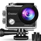 Crosstour Action Sport Cam WiFi 14MP Full HD Unterwasserkamera 2' LCD 170° Weitwinkelobjektiv...